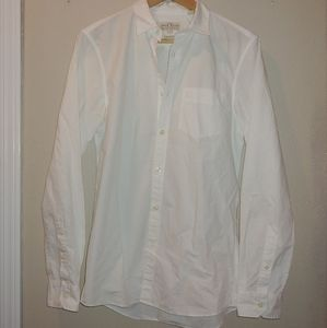 Jack Willis Classic Fit White Button Down Oxford S